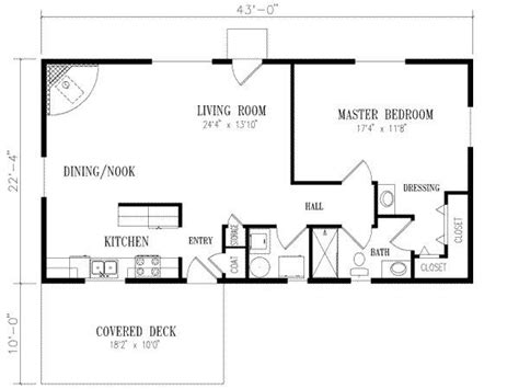 1 Bedroom House Floor Plans 14 Best Images About 20 X 40 Plans On Guest Houses Cabin Floor Plans And Cabin Plans