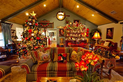 show me a country french home dressed for christmas miss
