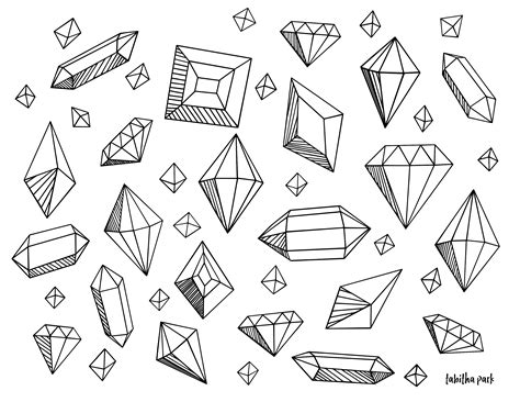 Gem Coloring Pages gem shapes for coloring pictures to pin on
