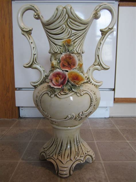 vasi capodimonte capodimonte vase with roses and handles antique appraisal