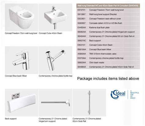 ideal picture height ideal standard concept freedom ensuite bathroom package
