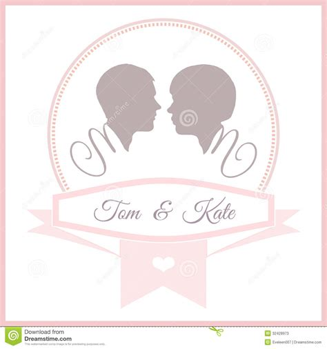married card template wedding invitation card template stock vector