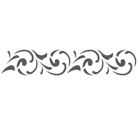 wall border stencils pattern 034 reusable template for diy