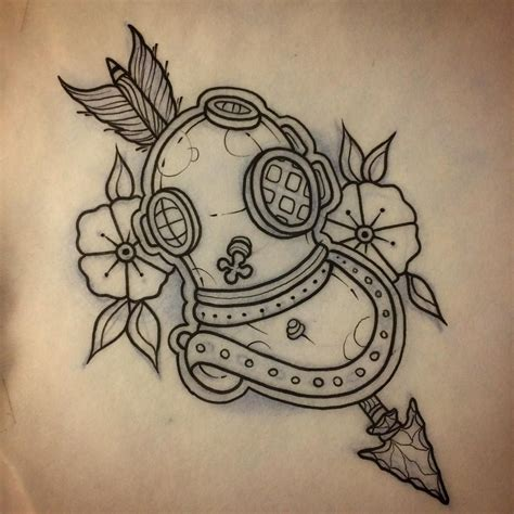diving tattoos designs up for grabs scuba helmet diving the sea