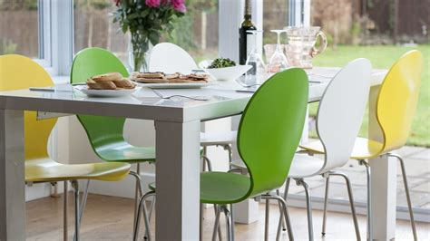 Bright Dining Chairs Modern Bright Dining Chair Stackable Kitchen Chairs