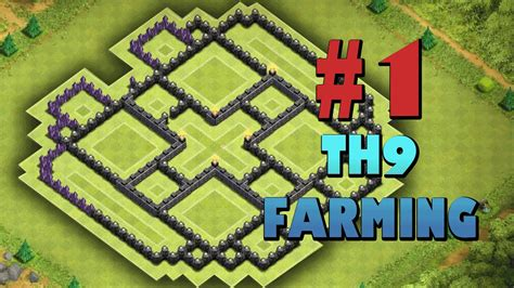 th9 layout strategy clash of clans 1 town hall 9 farming coc th9 best base