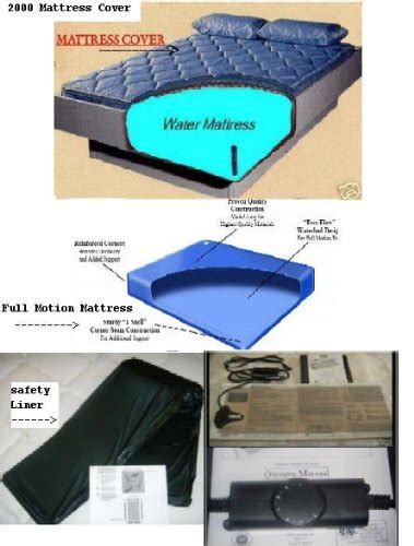 Waterbed Mattress And Heater Waterbed Mattress Kit With Free Flow Water Mattress Zipper Mattress Cover Heater Liner