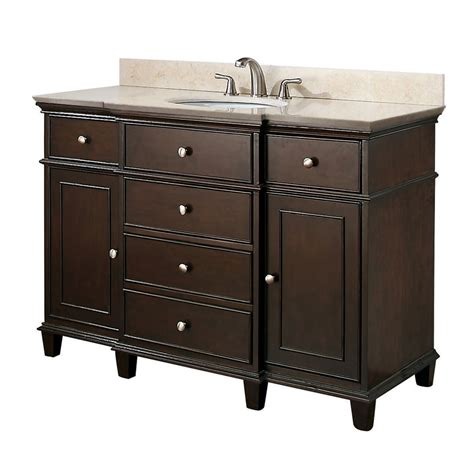 avanity 48 inches bathroom vanity in walnut finish