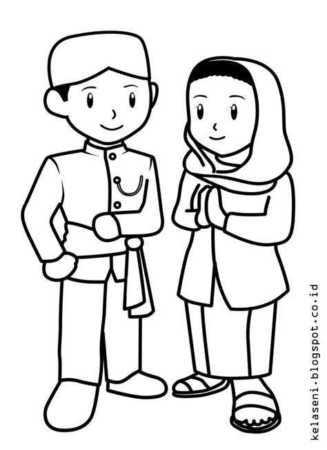 Gambar Baju Batik Mewarnai