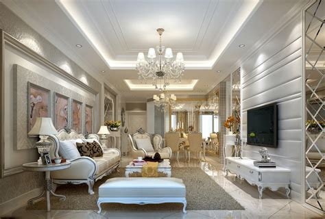 home design living room classic white neo classical design of the living room