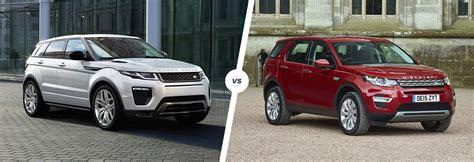 range rover sport vs range rover evoque range rover evoque vs land rover discovery sport carwow