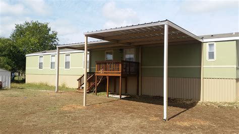 mobile home carports awnings front and back awning with carport attached to mobile home