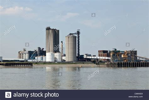 thames river chemical chemical plant and factory by the river thames near