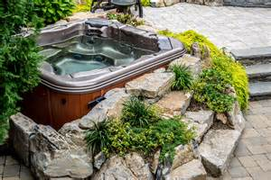 Backyard Spas Backyard Tub Ideas For Installation And Landscaping
