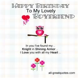 happy birthday card to my boyfriend birthday quotes for boyfriend quotesgram