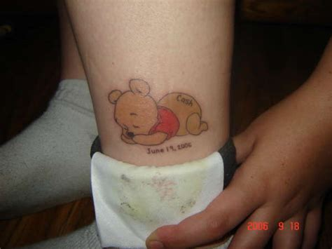 baby bear tattoo designs baby pooh