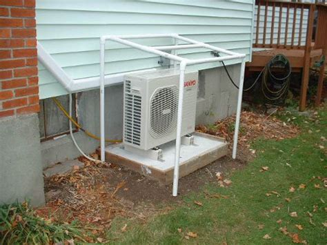 Split Floor House Plans diy sanyo air source heat pump install finishing touches