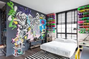 Painting Graffiti On Bedroom Walls 30 Awesome Teenage Boy Bedroom Ideas Designbump