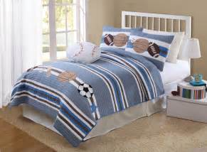 boy bedspreads and comforters white striped sports