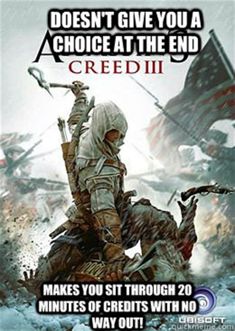 Funny Assassins Creed Memes - assassin 39 s creed iii memes