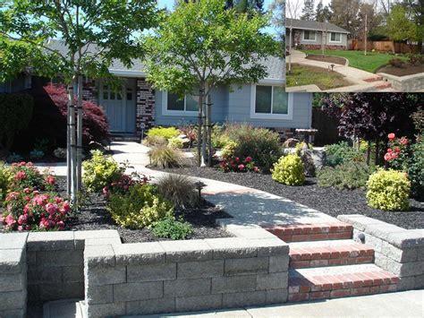 raised planter and walk conversion garden front yard ideas chsbahrain com