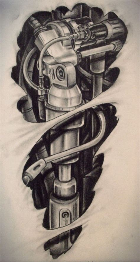 bionic tattoo designs pin upper back biomechanical tattoos