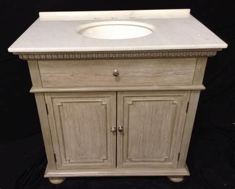 36 inch single sink bathroom vanity in distressed light