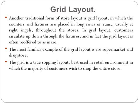 layout grid meaning store design