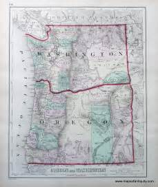 oregon and washington sold antique maps and