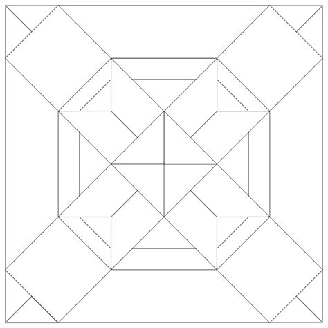 Free Patchwork Templates Printable - 35 cool paper piecing patterns guide patterns