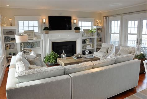 Great Room Layouts by Shingle Style Cottage Similar Wall Color Benjamin