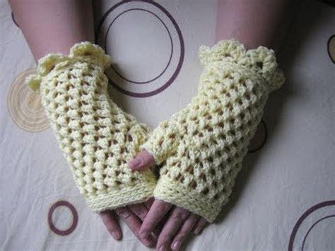 pattern gloves youtube crochet fingerless gloves tutorial butterfly stitch