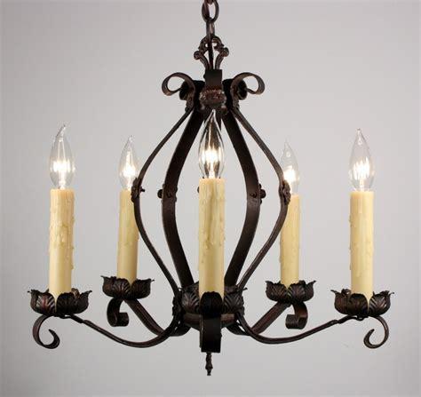 Fabulous Antique Iron Five Light Tudor Chandelier Nc961 Tudor Chandelier