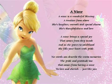 To Niece Birthday Quotes Personalised Poem A Niece Various Designs