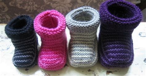 free knitting pattern baby slippers striped baby booties the whoot