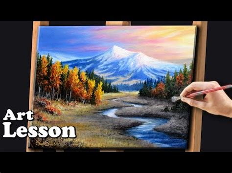 tutorial lake tableau painting a realistic landscape with acrylics youtube