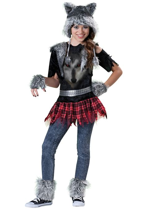 Tween werewolf girls costume scary costumes animal costumes