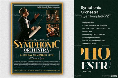 Symphonic Orchestra Flyer Template V2 By Lou606 Graphicriver Flyer Template V2