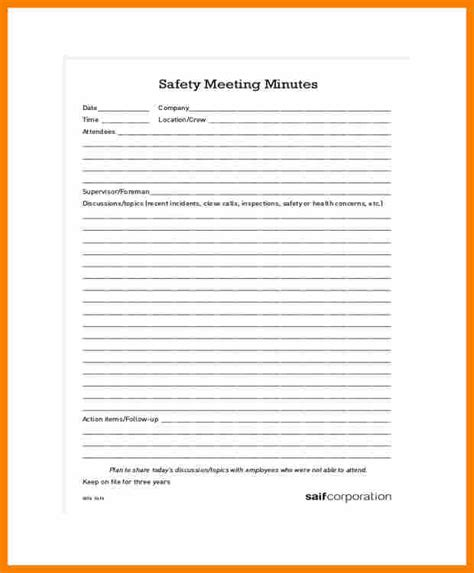 6 safety meeting form reporter resumes
