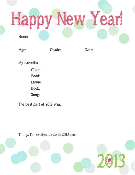 new year traditions printable 45 best new year s images on new years