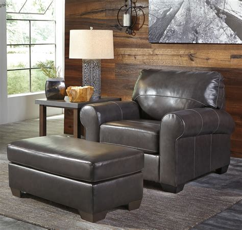 ashley leather chair and ottoman signature design by ashley canterelli leather match chair
