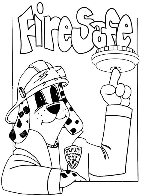 sparky fire safety coloring book coloring pages