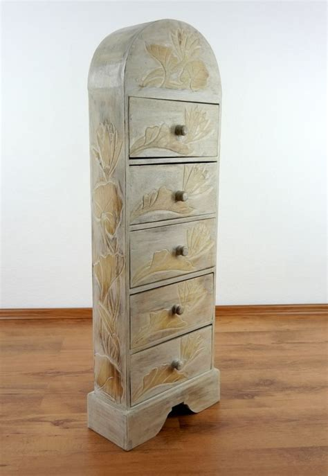 Schrank Hoch by Handmade Chest Of Drawers From Bali Cabinet With Flower