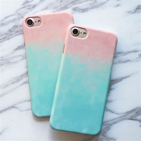 Casing Cover Iphone7 Iphone 7plus 7 Bening Transparan Baseus Sof fashion colorful gradient for iphone 7 for iphone7 7 plus phone cases sweet