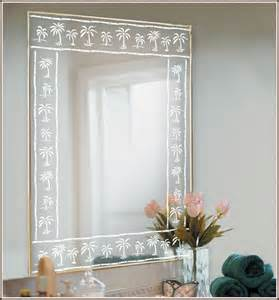 etched glass mirrors bathroom palm tree etched glass border accent wallpaper for windows