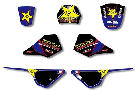 Sticker Yamaha Pw 80 by Rockstar New Style Team Graphics Backgrounds Decal