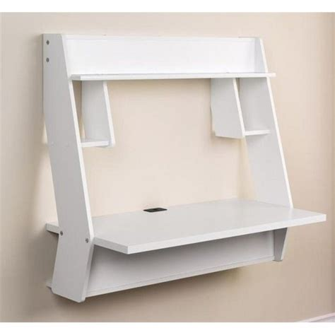 atlin designs floating writing desk in white ad 483810