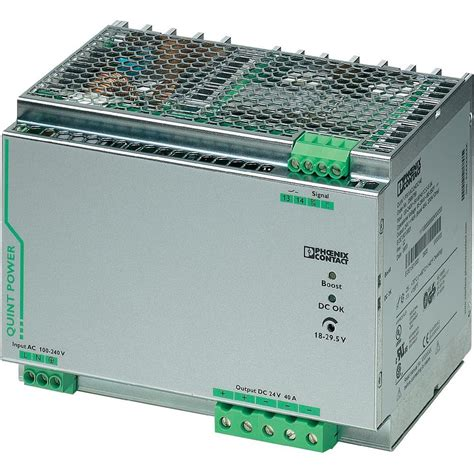 Power Supply 24vdc2er rail mounted psu din contact quint ps 1ac 24dc 40 24 vdc 40 a 18 w 1 x from conrad