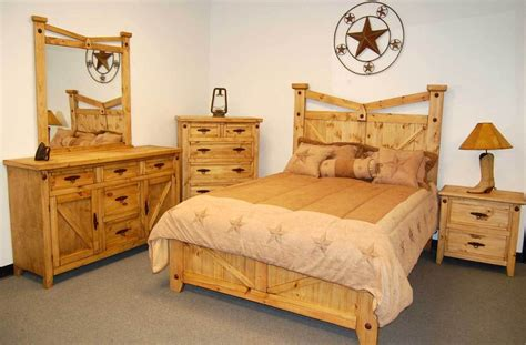 rustic santa fe bedroom set real wood western cabin
