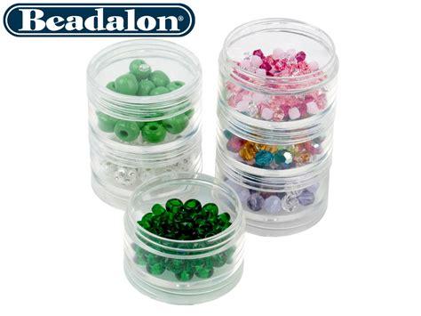 small bead storage containers beadalon small bead storage stackable containers six per